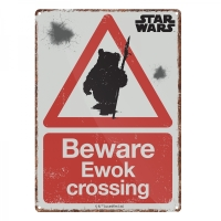 Beware Ewok Crossing Official Star Wars Tin Sign/ Wall Plaque