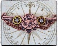 Steampunk Aviator Wings Brooch