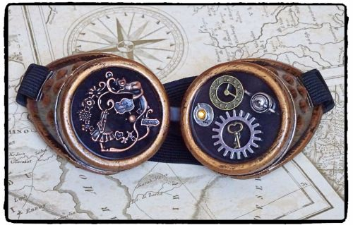 Handfinished Steampunk, Victorian, Alice in Wonderland, Cosplay Goggles