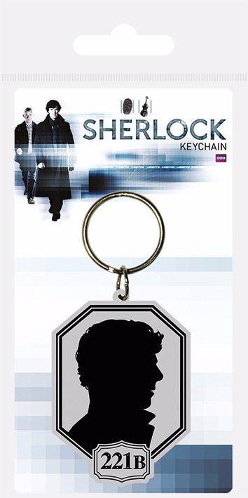 Sherlock, Sherlocked 221B, Rubber Keyring, Bag Charm Officially Licensed