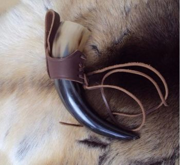 Viking, Medieval, LARP Drinking Horn With Leather Holder