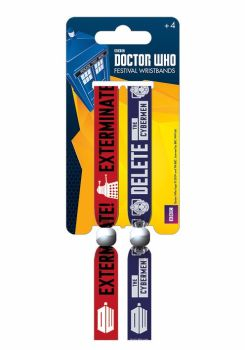 Doctor Who, Dalek, Cyberman, Festival Wristband, Offical License