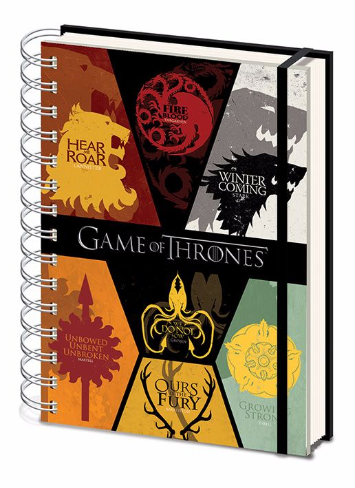 Game of Thrones, House Sigils A5 Wiro Notebook, Official License
