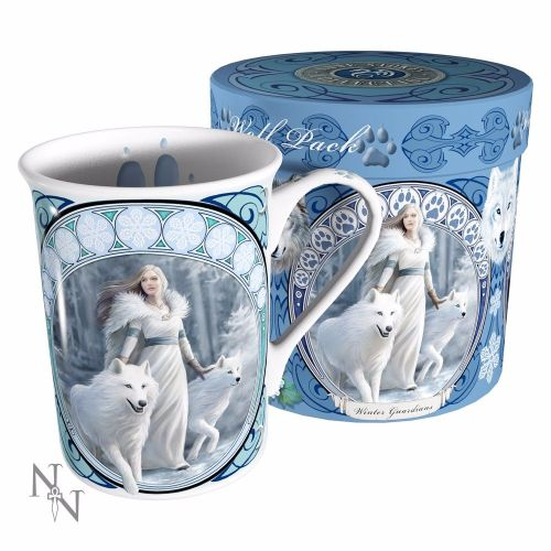Wolf Fantasy Winter Guardian Gift Mug