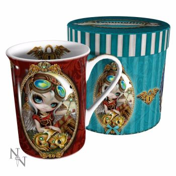 Steampunk Dragon, Clockwork Dragonling, Gift Mug