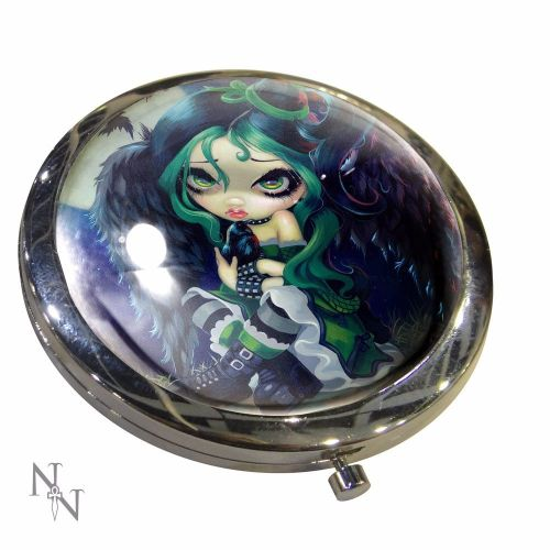 Gothic Angel, Perched & Sat & Nothing More Compact Mirror, Handbag Mirror B