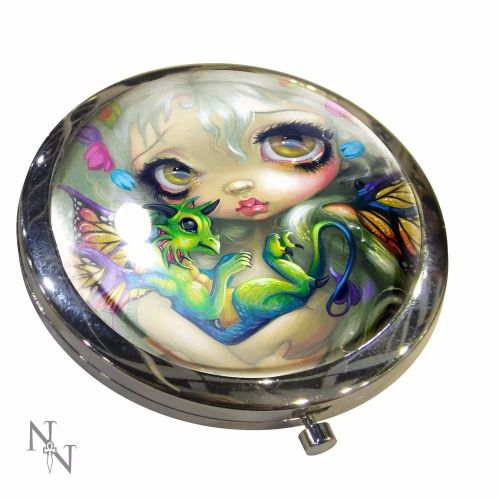Dragon Fantasy, Darling Dragonling Compact Mirror, Handbag Mirror by Nemesi