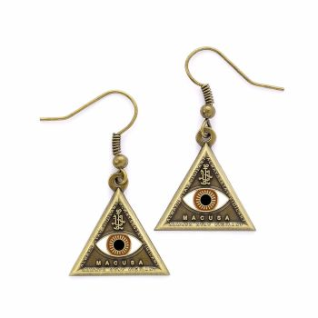 Fantastic Beasts Macusa Triangle Eye Earrings