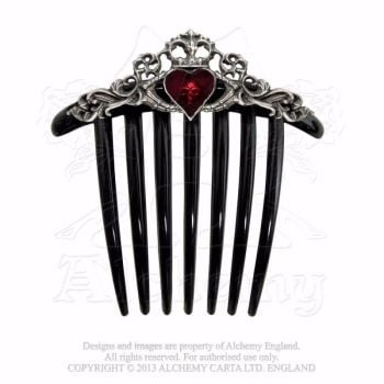Gothic Claddagh Hair Comb by Alchemy Gothic
