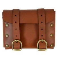Steampunk LARP Medieval Belt Pouch, Black or Brown Leather