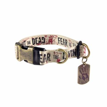 The Walking Dead, Fear The Living Fight The Dead, Dog Collar Size M,  AMC Official License: