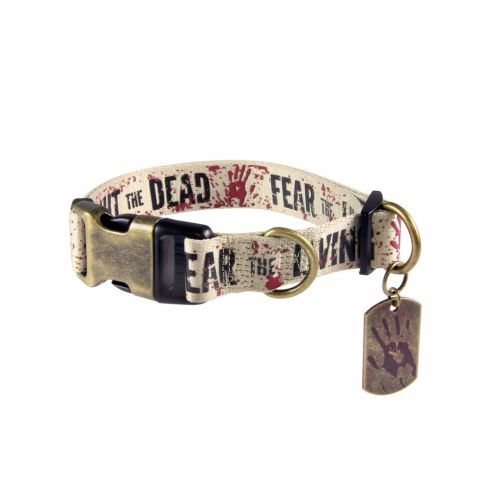 The Walking Dead, Fear The Living Fight The Dead, Dog Collar Size M,  AMC O