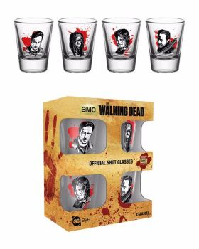 The Walking Dead Shot Glasses, Official AMC The Walking Dead Shot Glasses