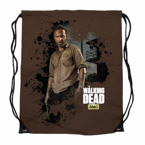 The Walking Dead Rick Grimes Drawsting, Cinch Bag, AMC Official License
