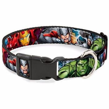 Marvel Avengers, Superhero, Captain America,Thor, Iron Man, Hulk, Official License Pet Dog Collar