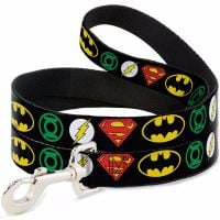 DC Logos Justice League Superhero, Batman, Superman, The Flash, Green Lantern, Dog Leash, Dog Lead Official License