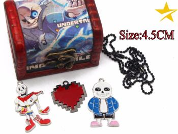 Undertale Pendant & Keyring Jewellery Set