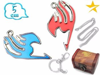 Fairy Tail Pendant & Keyring Jewellery Set