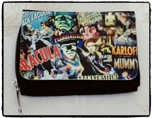 Film & TV Hammer Horror, Dracula, Frankenstein Inspired Purse, Wallet