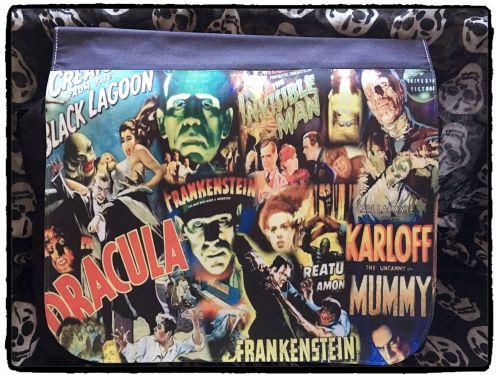 Film & TV Hammer Horror, Dracula, Frankenstein Inspired Shoulder Bag, Messe