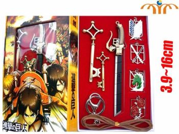 Attack on Titan Inspired Keyring and Pendant Jewellery set