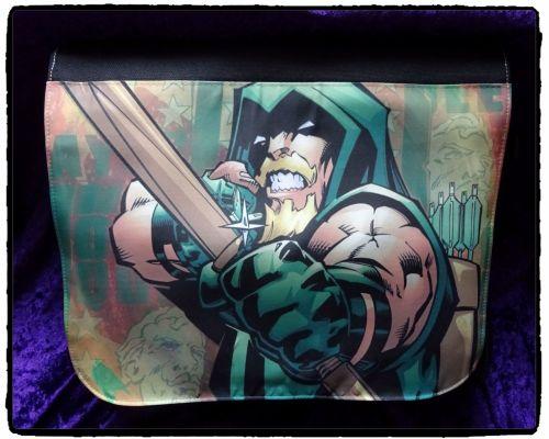 Green Arrow, Oliver Queen Comic Superhero Inspired Shoulder Messenger Bag