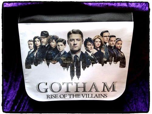 Gotham Series Inspired, Batman, Penguin, Riddler Shoulder Messenger Bag