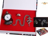 Full Metal Alchemist Pocket Watch, Ring & Pendant Jewellery Set