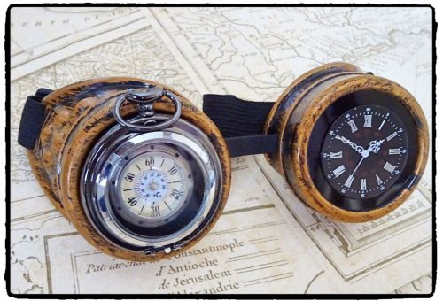 Handfinished Steampunk, Victorian, Clockwork, Time Piece, Cosplay Goggles