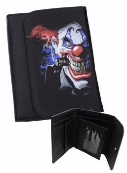 Horror Evil Clown Wallet