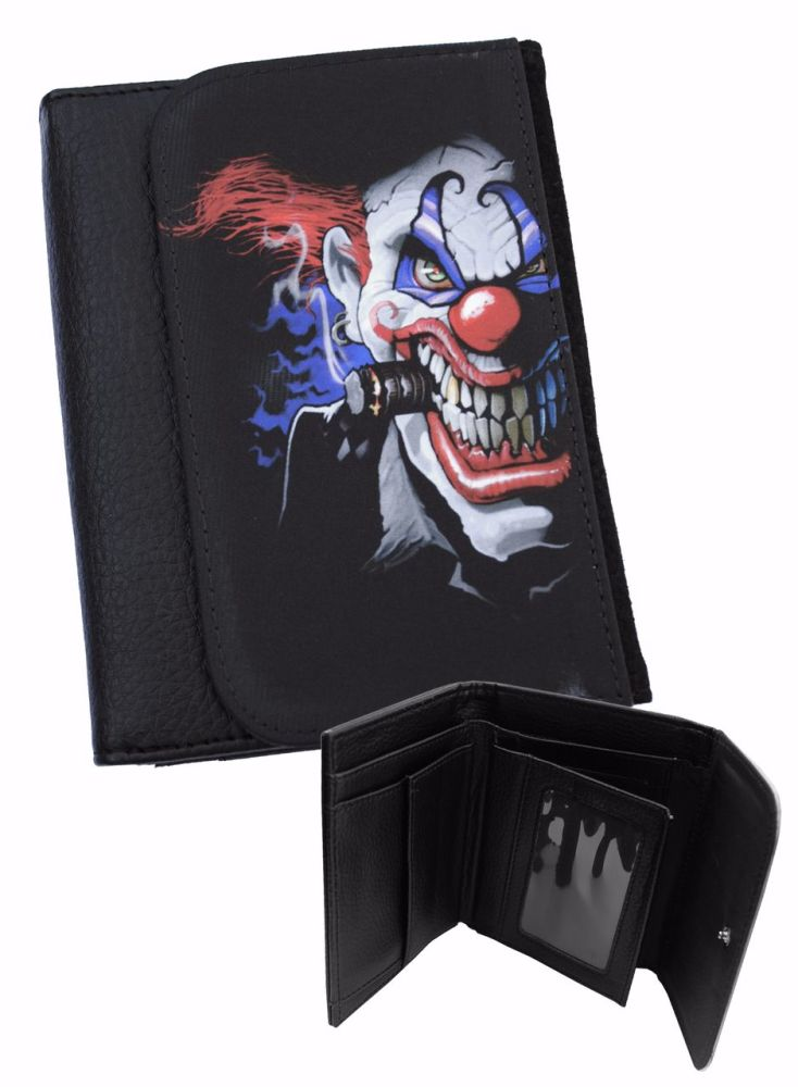 Film & TV Evil Clown Horror Gothic Wallet by Darkside