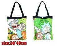 Rick And Morty Canvas Shopper