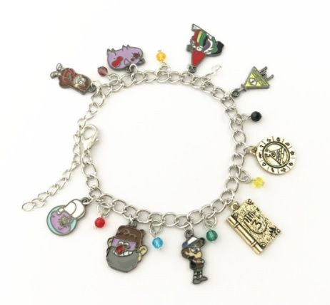 Anime, Gravity Falls, Bill Cipher Style Charm Bracelet