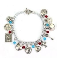 Once Upon A Time, Rumplestiltskin, Evil Queen, Snow White, Fairy Tale Inspired Style Charm Bracelet