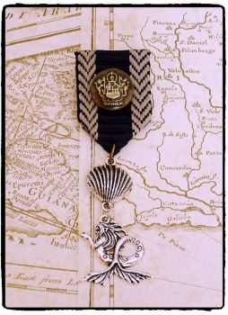Steampunk, Mermaid, Nautical Military Medal