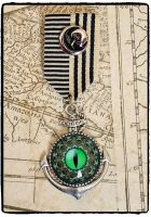 Steampunk, Kraken, Octopus, Anchor Military Medal