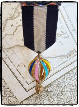 Steampunk, Hot Air Balloon, Aviator Military Medal
