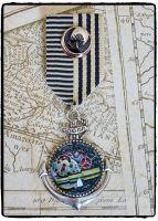 Steampunk, Anchor, Nautical Military Medal