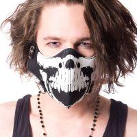 Gothic Punk Skull Cosplay Biker Mask by Poizen Industries