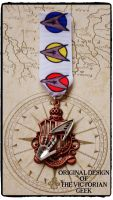 Steampunk, Star Trek, Science, Spock Inspired Handmade Medal