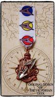 Steampunk, Star Trek, Science, Spock Inspired Handmade Medal