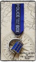 Steampunk, Doctor Who, Tardis Inspired Handmade Medal