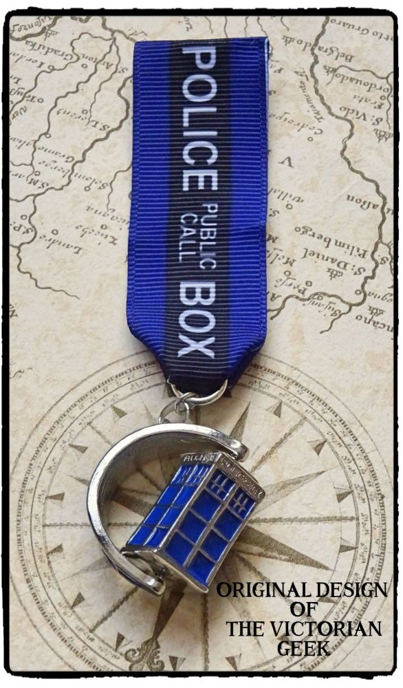 Steampunk, Doctor Who, Tardis Inspired Military Medal