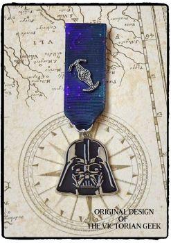 Steampunk, Star Wars, Darth Vader, Death Star Inspired Handmade Medal