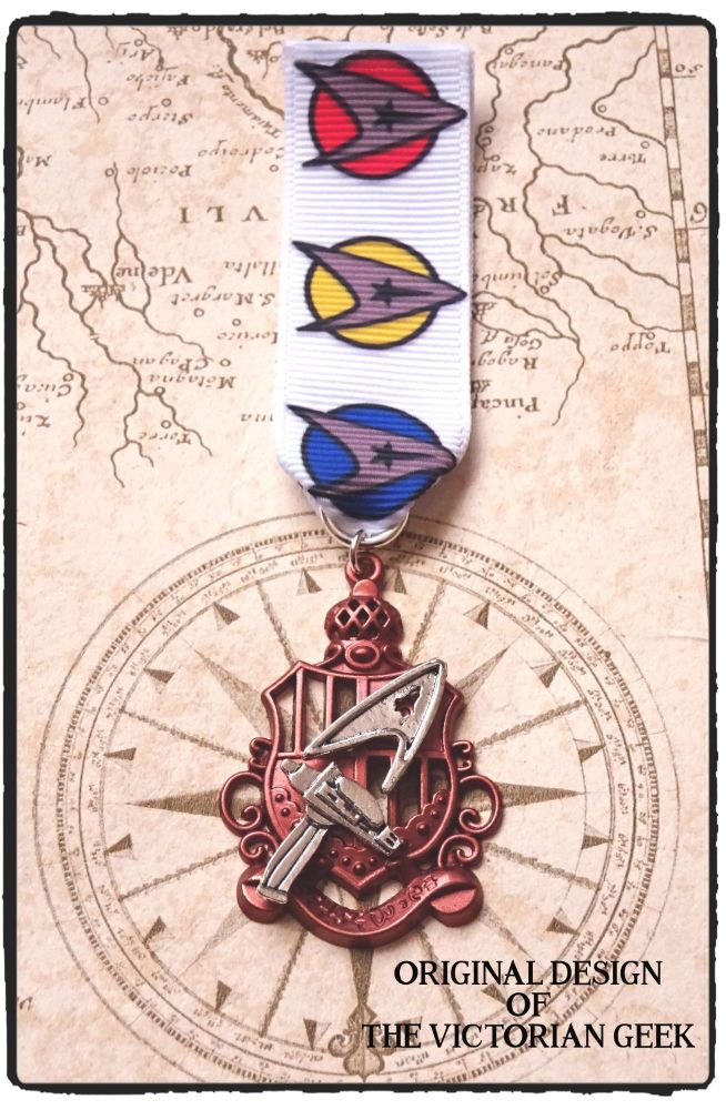 Steampunk, Star Trek, Command, Phaser Inspired Handmade Medal