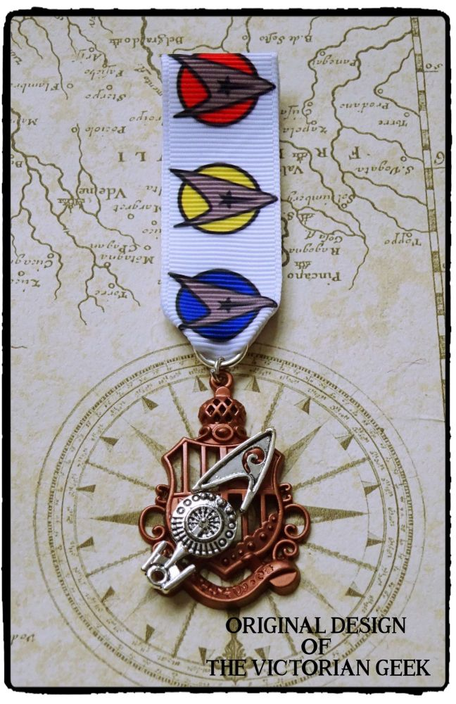 Steampunk, Star Trek, Engineering, Enterprise Inspired Handmade Medal