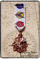 Steampunk, Star Trek, Klingon, Bat'leth Inspired Handmade Medal