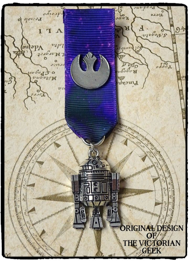 Steampunk, Star Wars, R2-D2, Rebel Alliance Inspired Handmade Medal