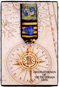 Steampunk, Harry Potter, Ravenclaw, Hufflepuff, Time Turner Inspired Handmade Medal