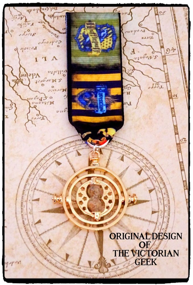 Steampunk, Harry Potter, Ravenclaw, Hufflepuff, Time Turner Inspired Handma